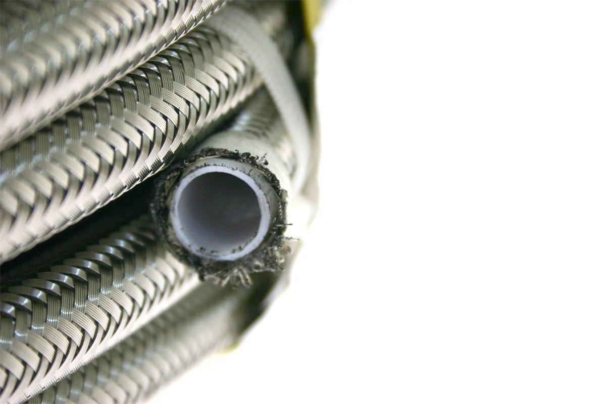 Przewód teflonowy PTFE AN4 5,5mm oplot stalowy - GRUBYGARAGE - Sklep Tuningowy